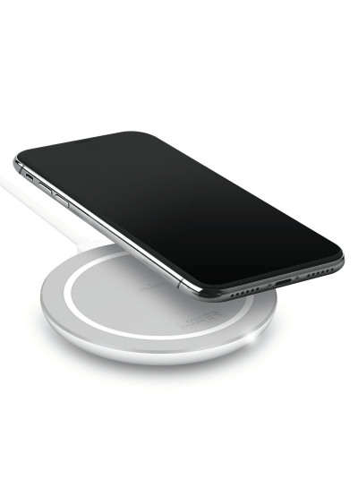 Trådløs oplader, Puro Wireless Fast Charge, Hvid