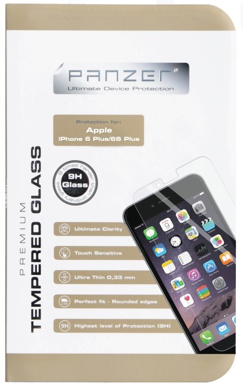 "Image of   Panzer Glass til Apple iPhone 6 / 6S Plus (den store 5.5"" model)"