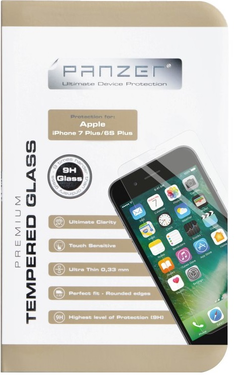 "Image of   Panzer Glass til Apple iPhone 7 Plus (den store 5.5"" model)"